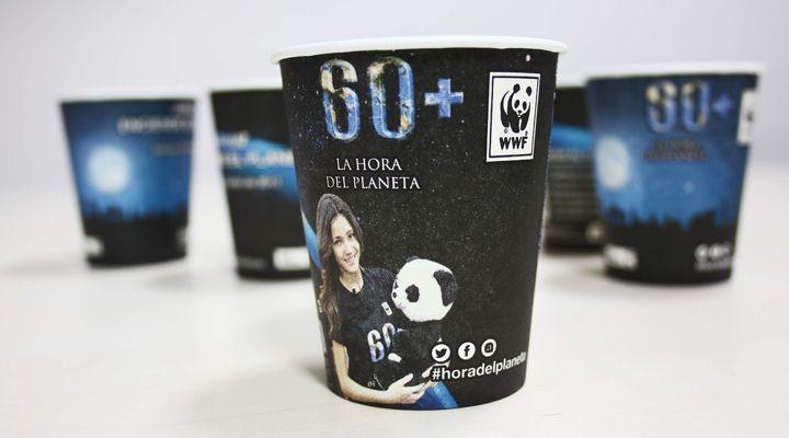 vaso WWF LA hora del planeta 2013 Alliance Vending