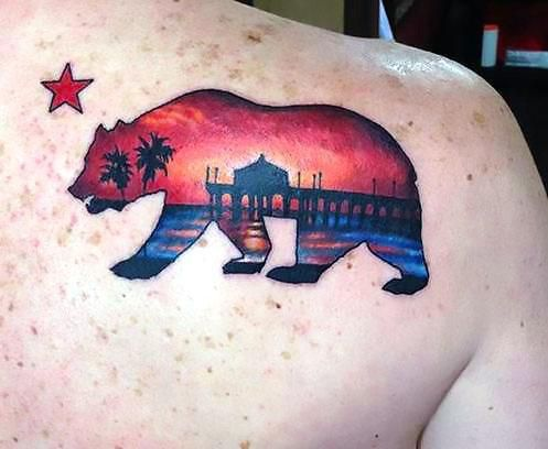 Top 25 best california bear tattoos ideas on pinterest for California bear tattoos