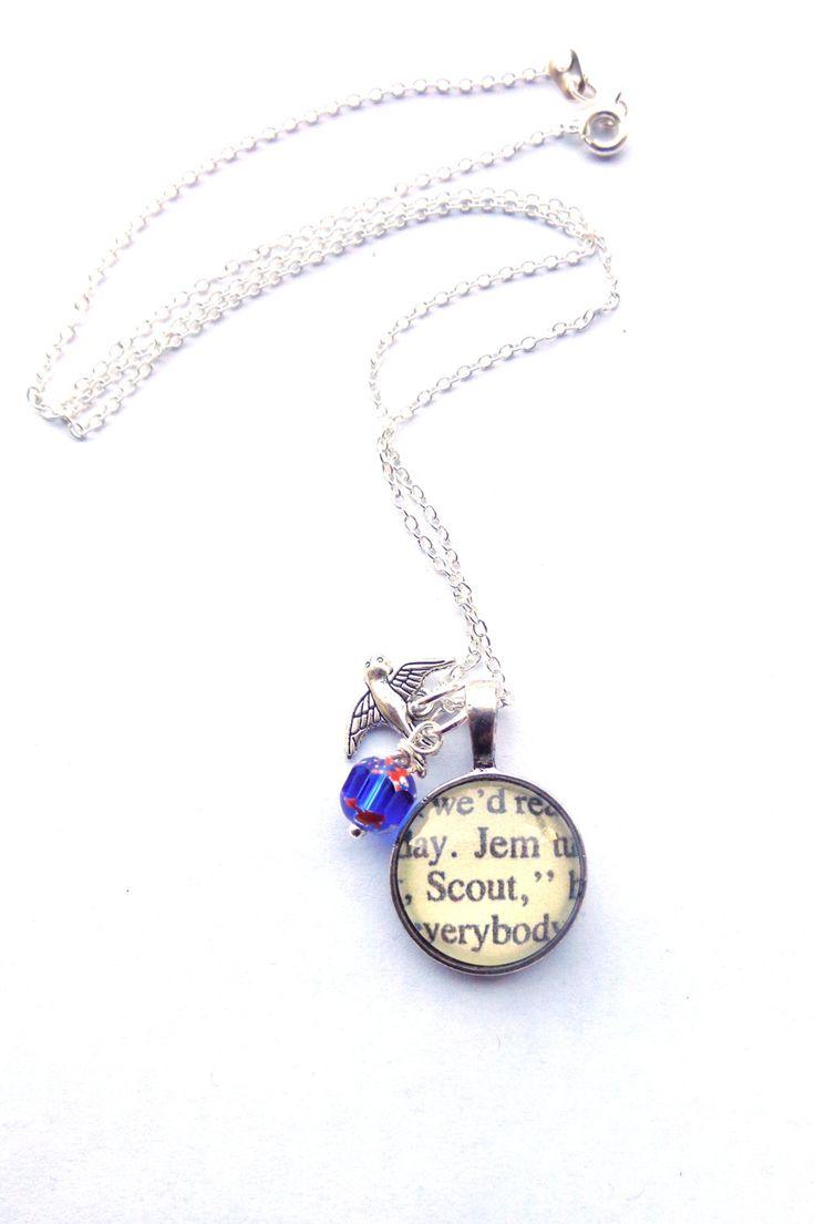 Kill mockingbird scrapbook ideas - To Kill A Mockingbird Book Necklace By Hendersweet