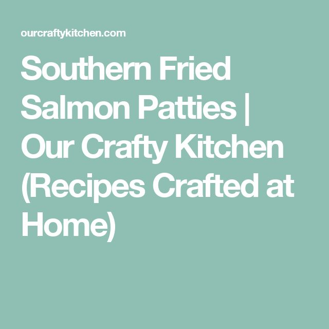 how to make salmon patties out of fresh salmon