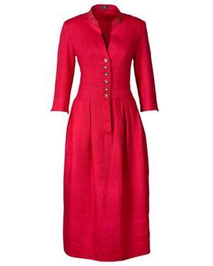 Leinenkleid (rot) von Luis Steindl - Dirndl & Kleider - Bekleidung - Damenmode Online Shop - Frankonia.de