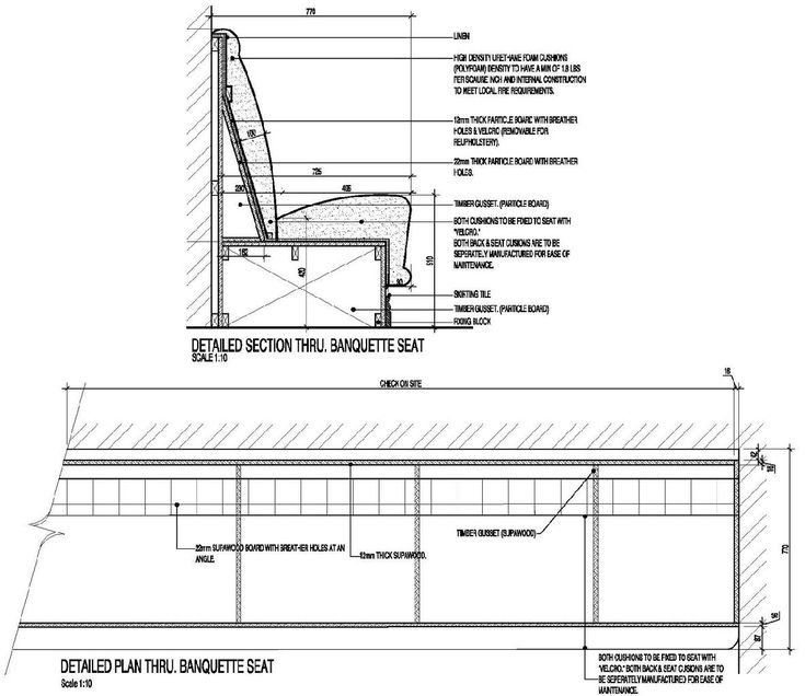 Banquette Seating Dimensions: Booth Seating Backrest Incline Angle