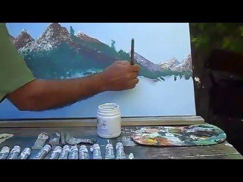 Como pintar água | Pintura em tela de pequeno formato - YouTube
