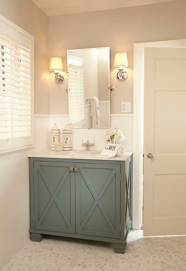 Best Powder Room Vanity Ideas On Pinterest Hexagon Tile - What paint to use on bathroom cabinets for bathroom decor ideas