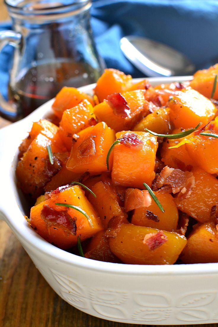 Maple Bacon Roasted Butternut Squash