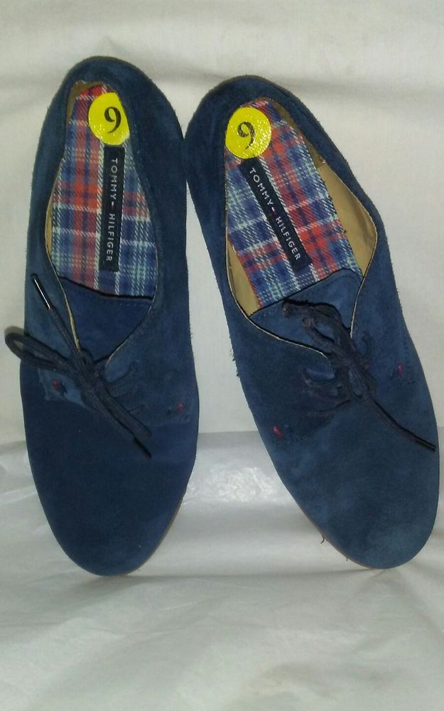 Tommy Hilfiger Womens Size 9 Honeybee Blue Suede Oxford Shoes #TommyHilfiger #Oxfords