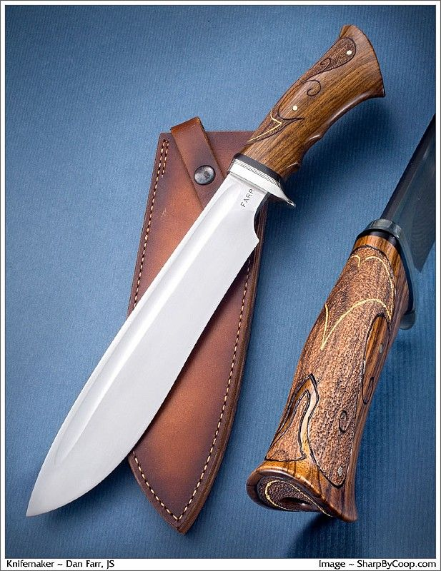 Dan Farr chopper with a beautiful handle.