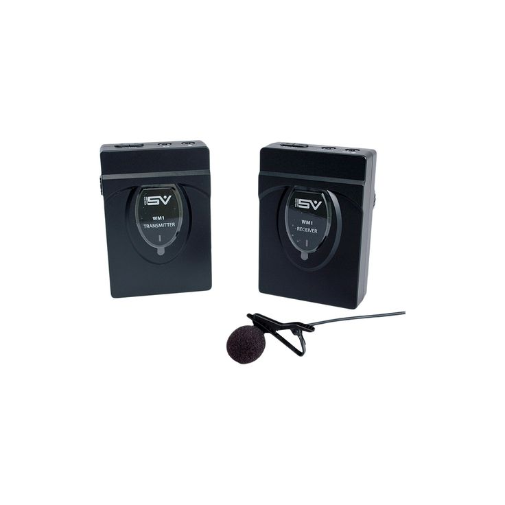 Smith-Victor Condenser Microphone with Low Signal to Noise Ratio and Reliable 2.4Ghz Technology - Black (SV-WM1)