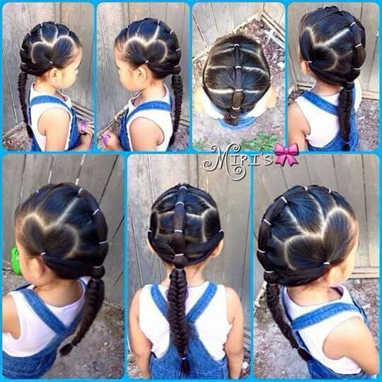 Easy Heart Hairdo Cosas Lindas Para Nenas