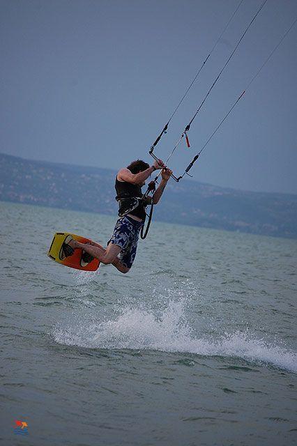 Kiter on Lake Balaton