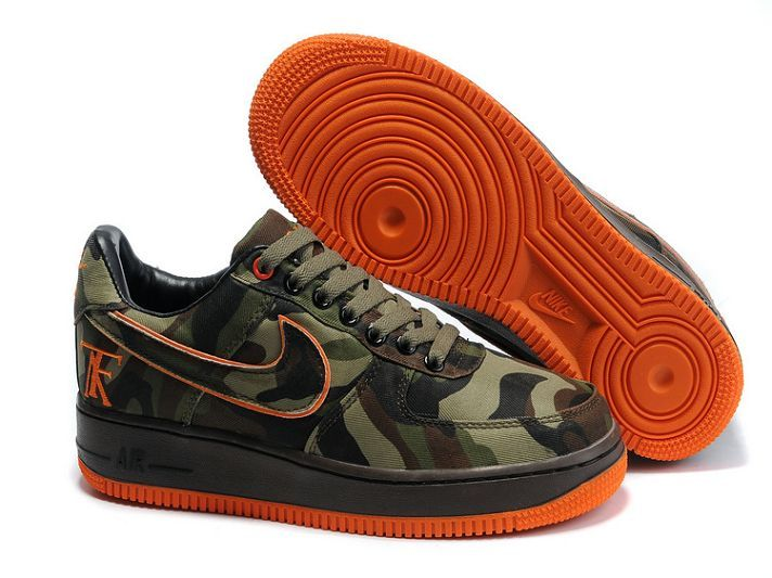 �85.00 Nike Air Force 1 Low Men\\\u0027s Dunk Shoes Green Orange