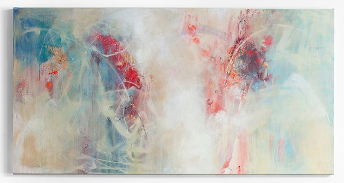 Artist Lisa Taylor-King has a wonderful talent for building up different layers and creating a beautiful depth to her abstract paintings.
