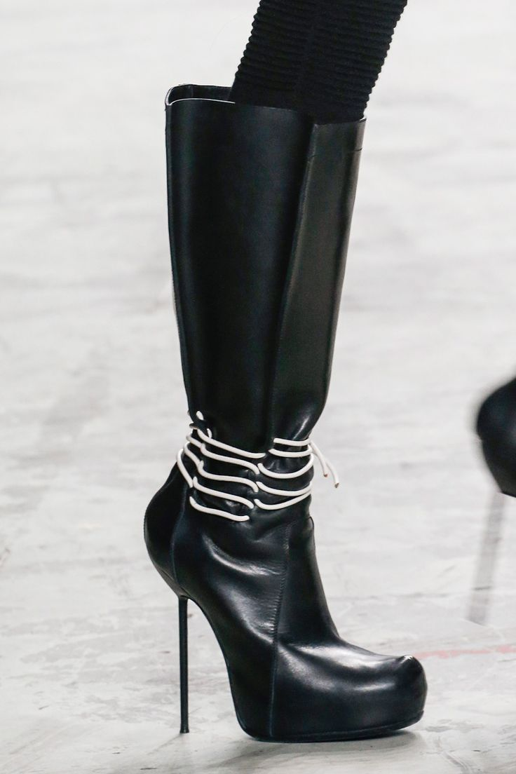 Pull On Booties BERGER Leather Spring/summerRick Owens q72a0xCRw