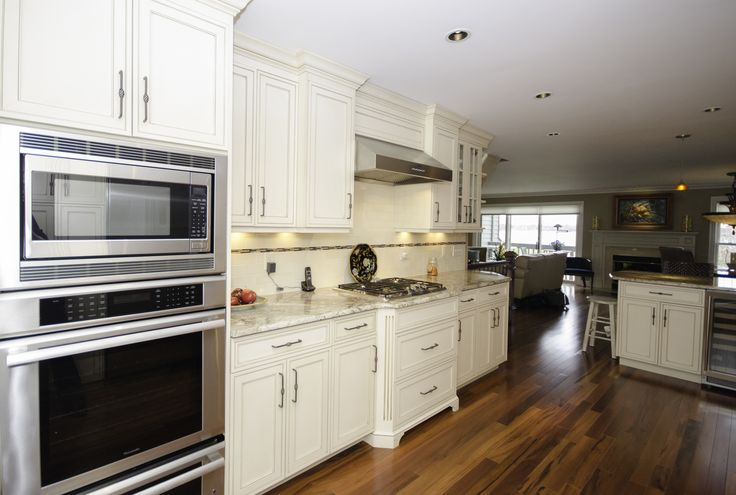 Double Wall Oven And Wood Floors Galley Kitchen With Peninsula Neptune Nj By Design Line