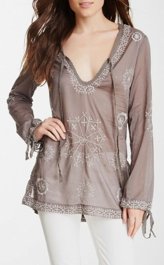 Woven Embroidered Blouse