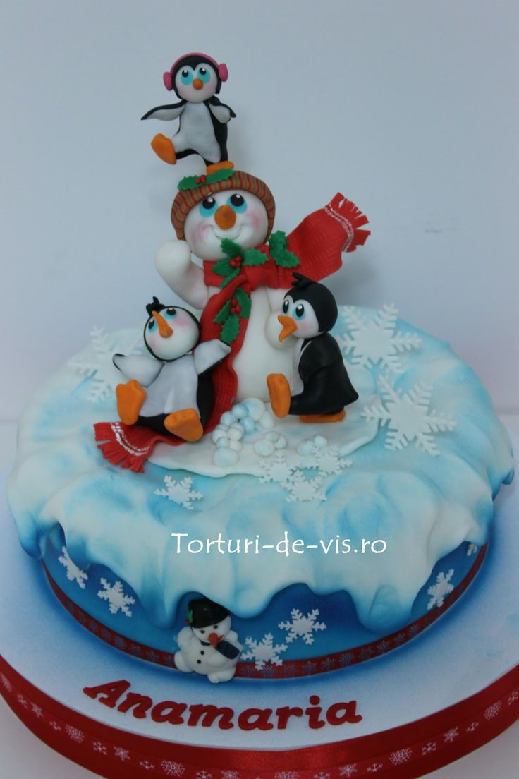 Tort cu pinguini