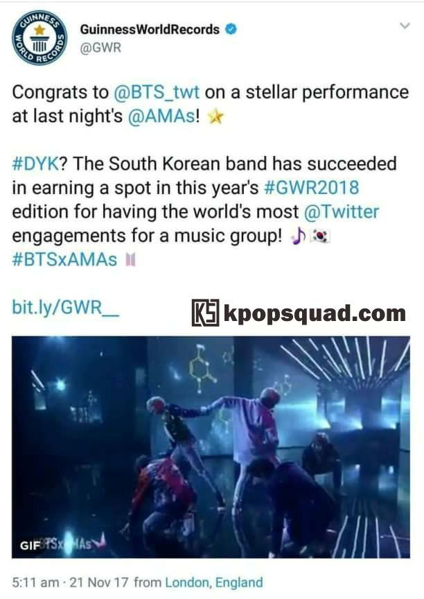 BTS Record In Guinness World Record!