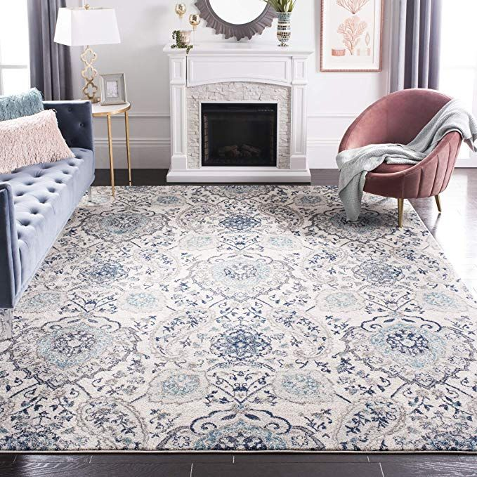 Amazonsmile Safavieh Madison Collection Mad600c Cream And Light Grey Bohemian Chic Paisley Area Rug 8 X 10 Kitchen Dining Light Grey Rug Cool Rugs Rugs