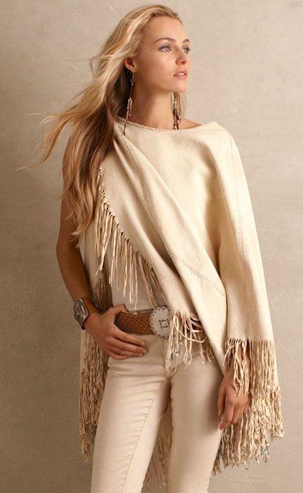 Ralph Lauren whites...adoro este color, la manta, el cinturon ...perfecto ;)