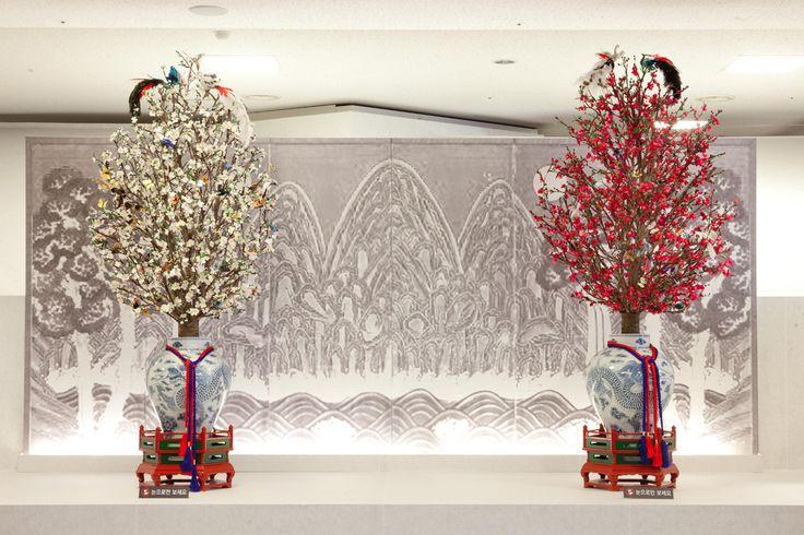 궁중채화, Korean Silk Flower  국립고궁박물관 2014 궁중채화특별전