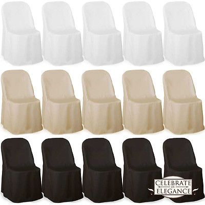100 Polyester Folding Chair Covers Wedding Party Decor
