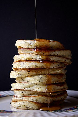 lemon poppy seed pancakes / joy the baker