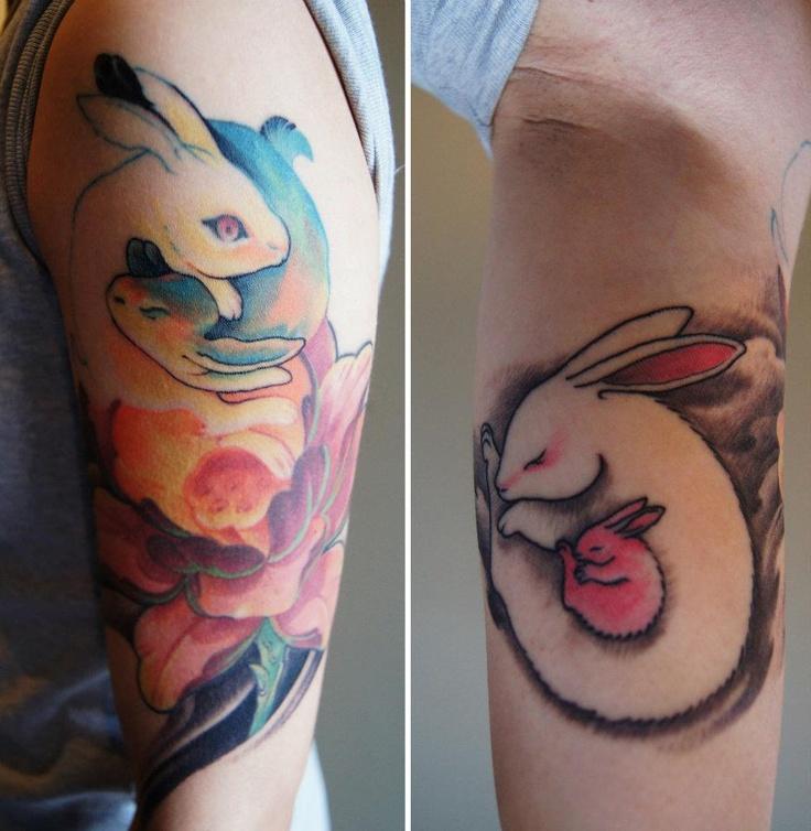 94 best bunny tattoos images on pinterest animal tattoos for Fake tattoo sleeves toronto
