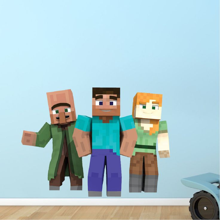 Best Minecraft Wall Decals Kids Decor Images On Pinterest - 3d minecraft wall decals