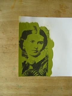 Acrylic Paint Transfer,  You paint with acrylics and can transfer an image on to it!