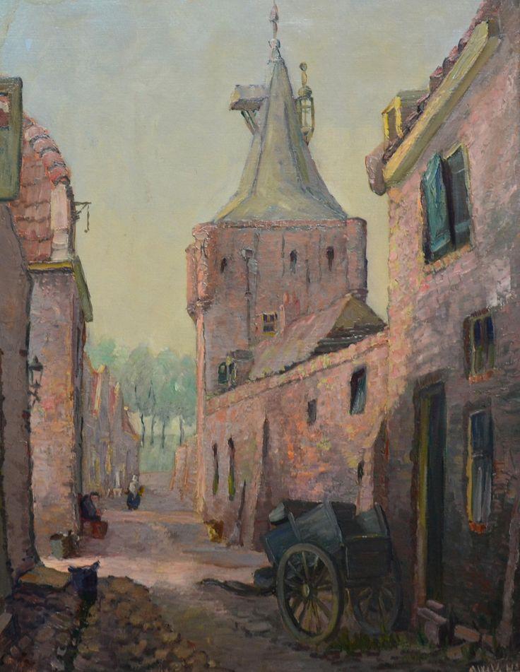 A.W. Verhorst 1879-1947      olieverf op doek     Stadsgezicht     63x49cm     ro     200-300     Kavelnummer 031