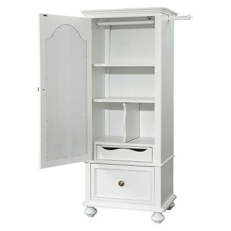 Madison Clothing Armoire with Mirror-White : Target