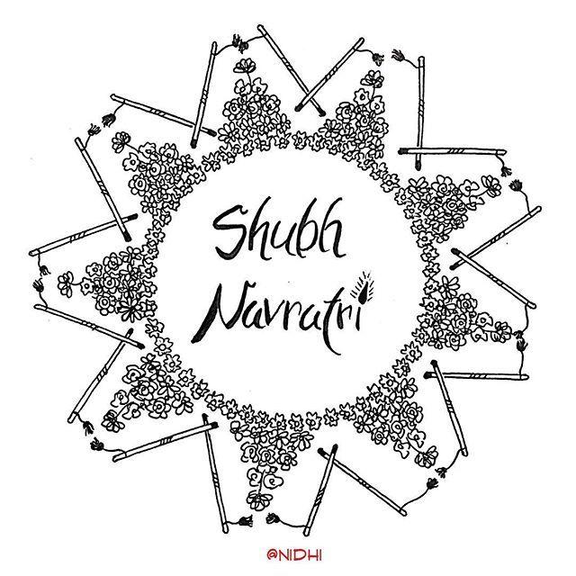 And Navratri starts from tomorrow. Happy Navratri in advance! 🙃 . . . . . . . . . . . . . . #art #instart #instadoodle #doodle #doodleart #zentangle #mandala #blackabdwhite #dussera #bathukamma #dandiya #navratri #happynavratri #india #flowers #calligraphy #
