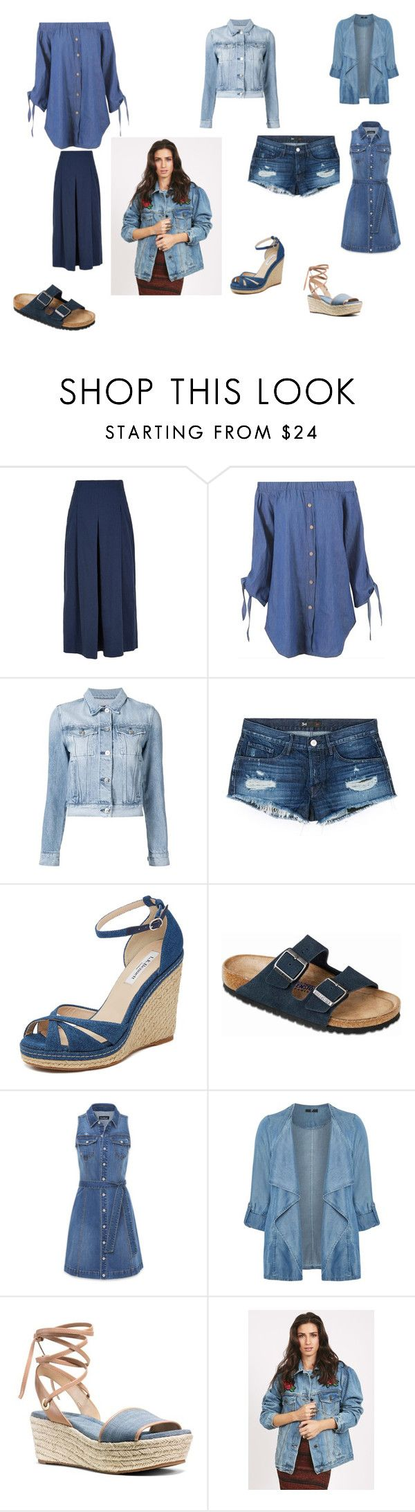 """""""Denim"""" by amgbenyon ❤ liked on Polyvore featuring TIBI, 3x1, L.K.Bennett, Birkenstock, Bebe, Evans, MICHAEL Michael Kors and plus size clothing"""