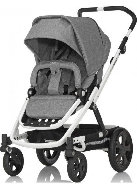 Britax Go Next Kinderwagen Set Weiß/Grey Melange - Kleine Fabriek. Mehr Infos auf https://www.kleinefabriek.com/.