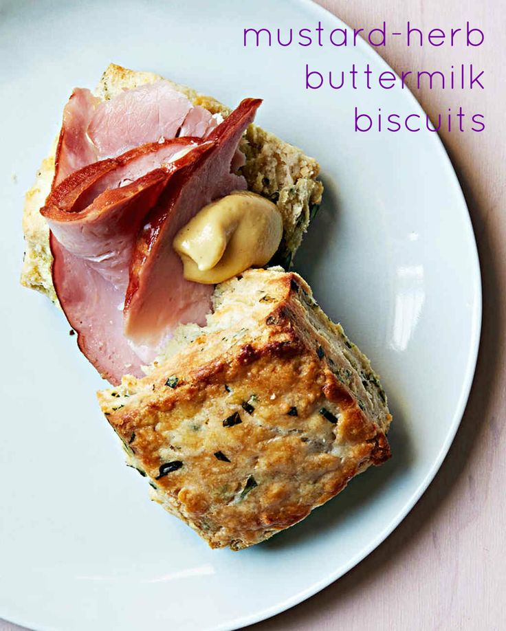 Add a dollop of Dijon mustard, plus a slice of ham to make a delicious buttermilk biscuit sandwich