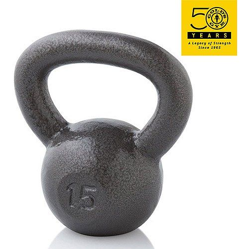 Gold's Gym 15 lb Cast Iron Kettlebell (15 lb). Type Single Dumbbell Condition New Material Neoprene Covered Manufacturer Part Number WGGKB1513 Model WGGKB1513 Fitness Goal Build Muscle Brand Gold's Gym.