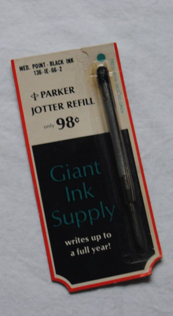 Ball Point Pen Refill/Vintage Refill/ J. Parker Pen Jotter