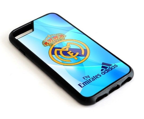 Real Madrid Logo Blue iPhone 6 6s 7 8 X Plus Hard Plastic Case #UnbrandedGeneric