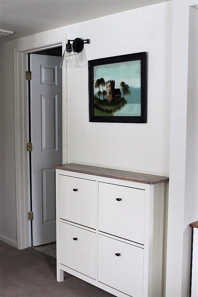 Ikea Shoe Cabinet Hack As Faux Built In Hallway Storage Ikea