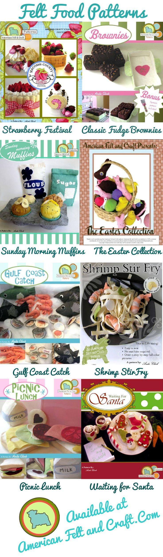 Felt Food PDF patterns from American Felt and Craft