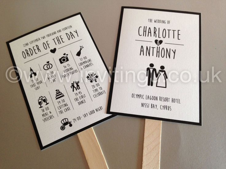 Wedding Order Of The Day Fans Www Invitingu Co Uk