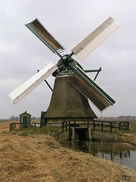 Polder mill De Eendracht, Kimswerd, The Netherlands