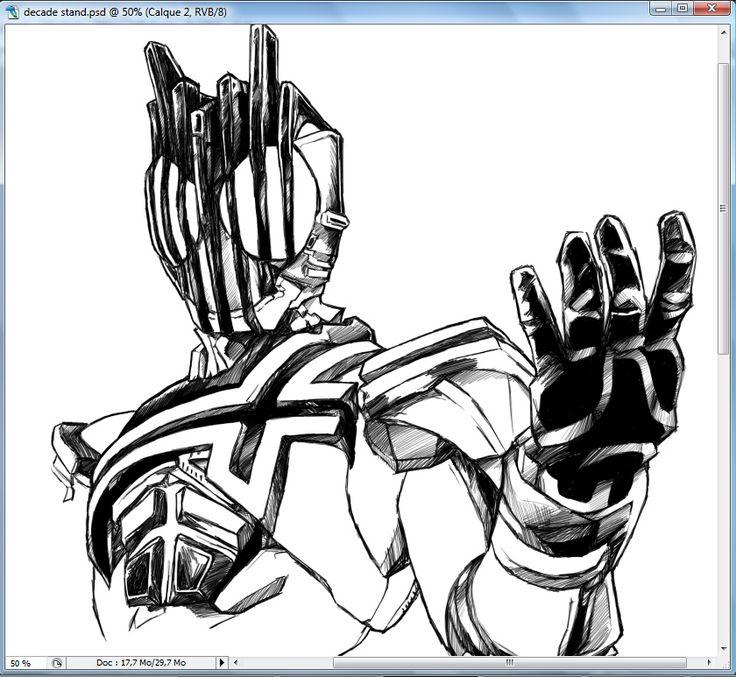 WIP: Kamen Rider Decade by Uky0.deviantart.com