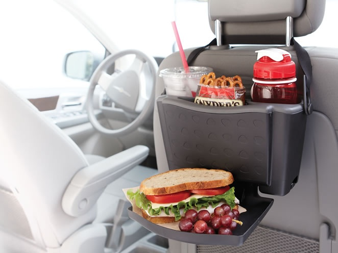 Rubbermaid Back Seat Tray is designed to help passengers conveniently manage food, trash and enterta....