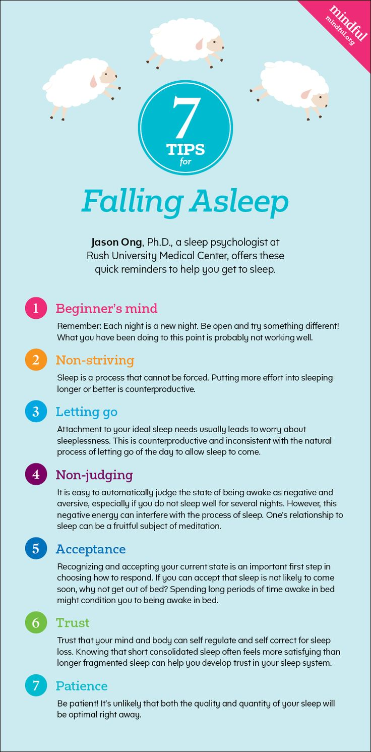 Seven Tips for Falling Asleep - Mindful