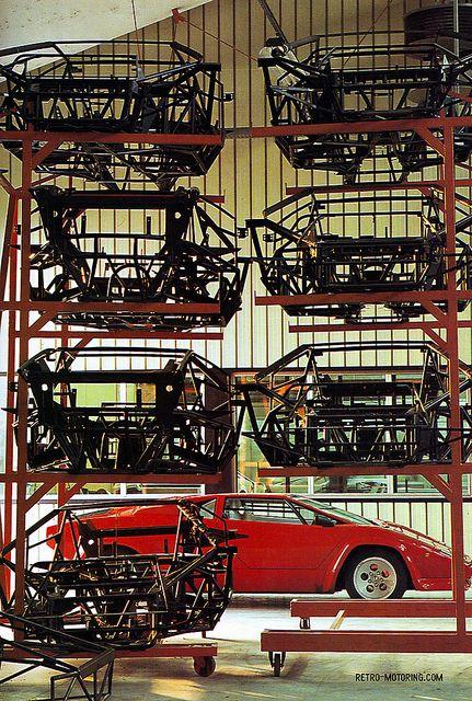 Lamborghini Countach and Countach frames