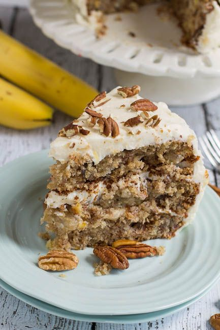 Humming Bird cake.  A classic southern cake filled with banana, pineapple, and pecans, and topped with a thick cream cheese icing.