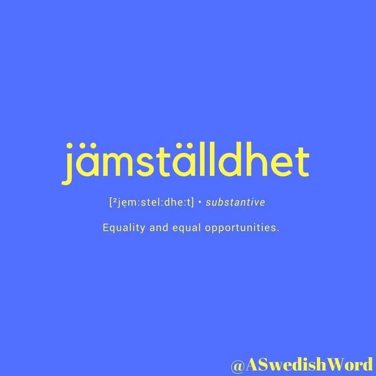 Svenska ord. Swedish saying and words.