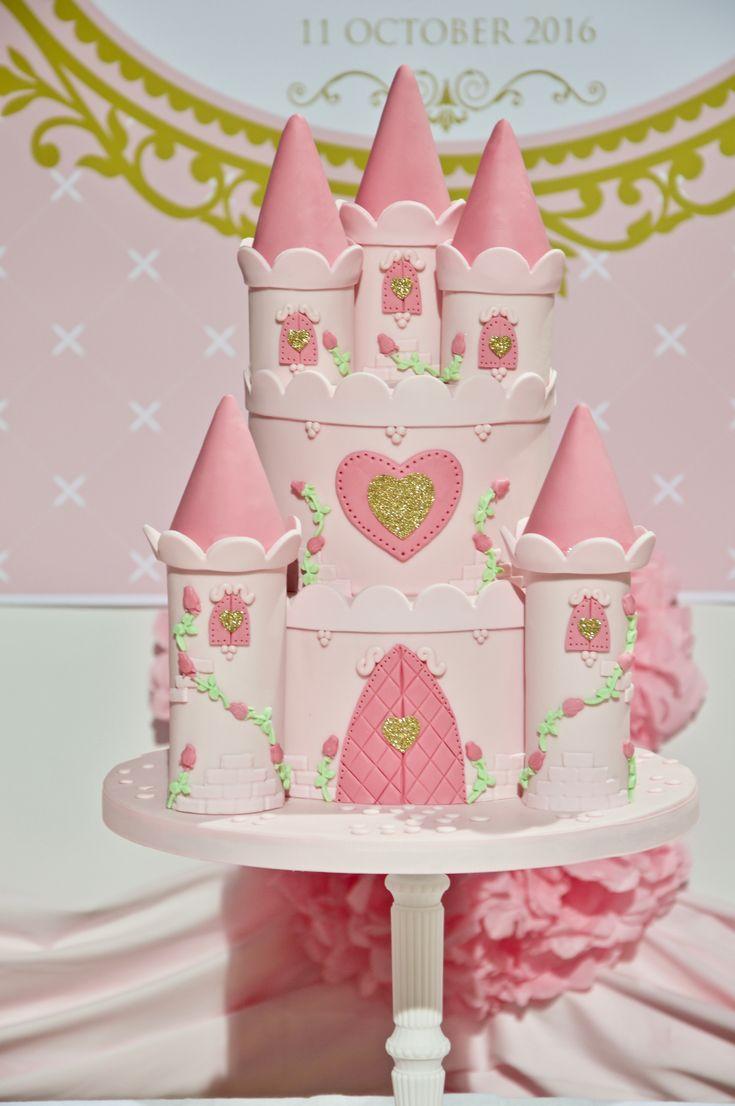 Pink Princess Caste birthed Cake by Alessandra D'Antona on satinice.com!