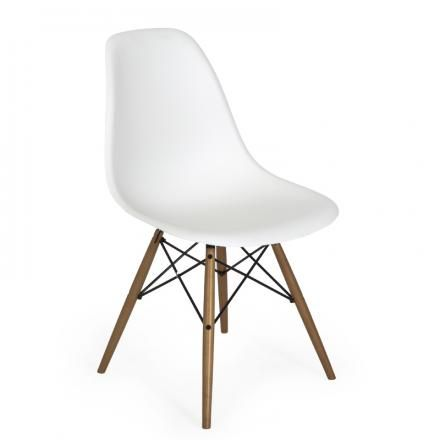 A #modern #classic that makes any room look #stylish - the #DSW #chair by Charles and Ray #Eames for #Vitra